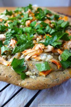 Chicken Recipes Chicken on Buttermilk Pesto Pizza recipe