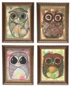 owl art cuties