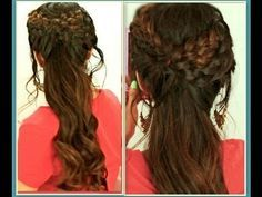 ★HAIR TUTORIAL: CUTE HAIRSTYLES WITH GRECIAN BRAID FOR MEDIUM LONG HAIR. I wish there actually were a tutorial for this. The picture is too small! But it gives me a creative spark. As long as I don't do this after yoga my arms could handle it :)
