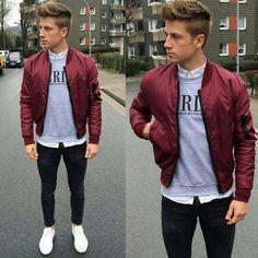the burgandy jacket