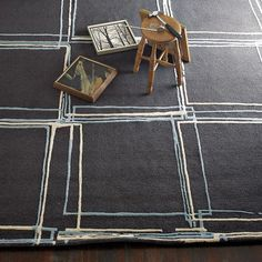 Sketched square rug