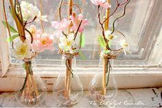 Homemade vase made from light bulb