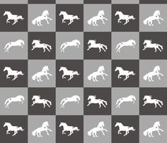 Horse Chess Professional fabric by smuk on Spoonflower - custom fabric