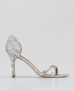 Stephanie d'Orsay Glitter Sandals - These would be cute on the bridesmaids.