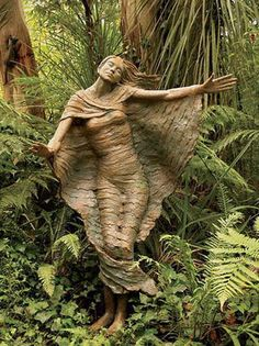 """ugher: """" Magical Forest Wood Statues (by """" This is a Bruno Torfs sculpture in """"Brunos Art and Sculpture Garden"""" in Australia. The fires ruined parts of the garden/sculpture, but I see. Sculptures Céramiques, Sculpture Art, Garden Sculptures, Driftwood Sculpture, Bronze Sculpture, Yard Art, Wooden Statues, Tree Carving, Magical Forest"""