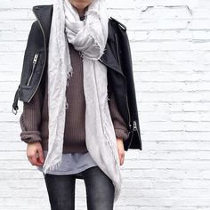 I love draping jackets over simple layers. ❤️ | Use Instagram online! Websta is the Best Instagram Web Viewer!
