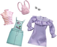 Find Barbie Fashions and other Barbie accessories at the offical Mattel website. Also, check out Barbie dolls, playsets, dreamhouses and more today! Mattel Barbie, Mattel Shop, Barbie Doll Accessories, Doll Clothes Barbie, Barbie Outfits, Barbie Stuff, Clothing Accessories, Polly Pocket, Outfit Sets