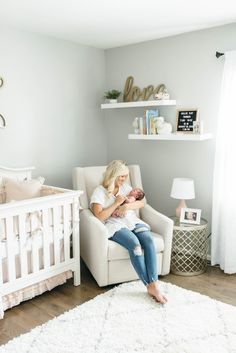 Aug 2019 - Modern Farmhouse In-Home Lifestyle Newborn Session Nursery Twins, Baby Nursery Decor, Baby Bedroom, Baby Boy Rooms, Baby Boy Nurseries, Baby Decor, Nursery Room, Nursery Set Up, Nursery Layout