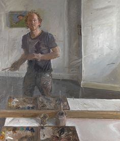 "James Lloyd (British) ~  Self-Portrait, ""The Mirror"""