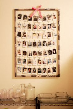 DIY Polaroid Display! For you guys that want a polaroid i recommend the fujifilm instax min 8! X