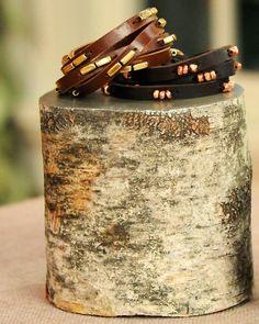leather wrap bracelet / diy from martha
