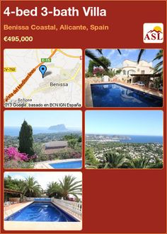 4-bed 3-bath Villa in Benissa Coastal, Alicante, Spain ►€495,000 #PropertyForSaleInSpain