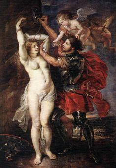 RUBENS, Peter Paul  Perseus Liberating Andromeda  1639-40  Oil on canvas, 265 x 160 cm  Museo del Prado, Madrid