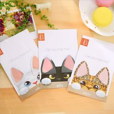 New Cute Cat Ears Mini Memo Pad Sticky Notes Escolar Papelaria School Supply Bookmark Post it Label Free Shipping S0027