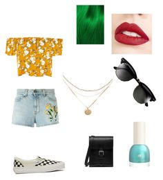 """Untitled #16"" by inasm on Polyvore featuring Vans, Gucci, Mulberry, Lime Crime, Jouer and Ray-Ban"