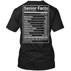 24740b2c Buy SENIOR FACTS Hanes Tagless Tee T-Shirt at Walmart.com Senior Class  Shirts