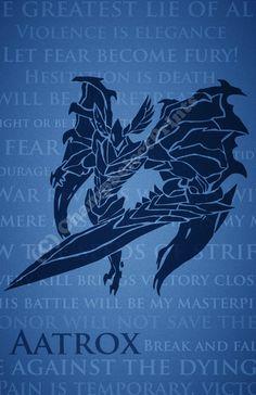 League Of Legends http://www.etsy.com/listing/156076997/aatrox-league-of-legends-print?ref=shop_home_active