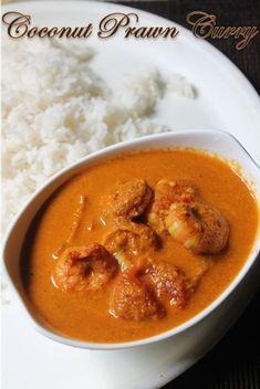 South Indian Coconut Prawn Curry Recipe - Yummy Tummy