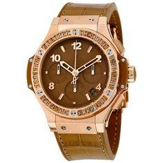 Hublot Big Bang Tutti Frutti Tan Dial Chronograph 18kt Rose Gold Unisex Watch 341PA5390LR1918