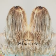 Rooted balayage ombre blonde