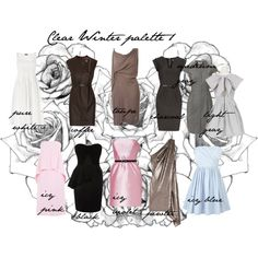 Clear Winter palette 1, created by carolgrant on Polyvore