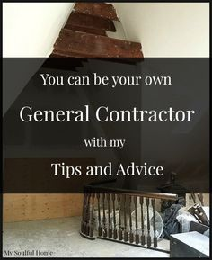 Learn how to be your own general contractor.  With my tips & advice you will be running a crew like a pro, get your renovation done faster & more economically.