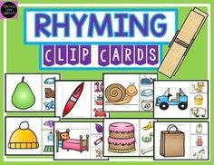 Rhyming Clip CardsFun activity to help your students enhance their rhyming skills. The use of clothespins strengthens fine motor skills. Related Products:Rhyming with Ice CreamBeginning Sounds Matching Cards*****************************************************************************Customer Tips: How to get TPT credit to use on future purchases: Please go to your My Purchases page (you may need to login).