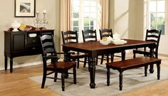 Dining Table With 6 Chairs 7 Pc. Set Palisade Collection