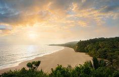 Playa Grande beach at sunset