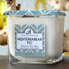 Mediterranean Fig 10 oz. soy candle