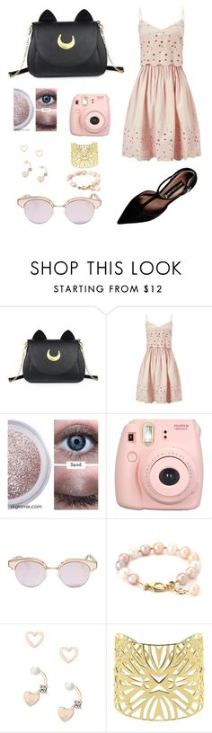 """Sweetie"" by julia-rietjens ❤ liked on Polyvore featuring Usagi, Miss Selfridge, Fujifilm, Le Specs, Lipsy, Vélizance and Steve Madden"