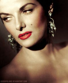 Notable Films: The Outlaw The Paleface His Kind of Woman Gentlemen Prefer Blondes Gentlemen Marry Brunettes The Revolt of Mamie Stover Hooray For Hollywood, Hollywood Icons, Hollywood Fashion, Old Hollywood Glamour, Golden Age Of Hollywood, Vintage Hollywood, Hollywood Stars, Classic Hollywood, Jane Russell