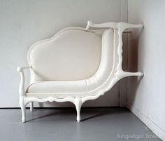 white furniture.