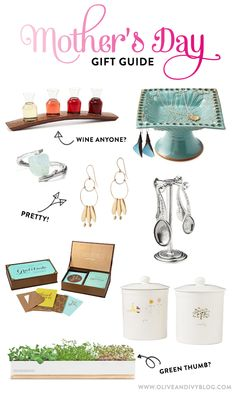 Some GREAT ideas here! mother's day gift guide - Olive & Ivy
