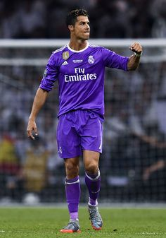 Cristiano Ronaldo Photos Photos - Cristiano Ronaldo of Real Madrid CF celebrates after scoring his team's third goal during the UEFA Champions League Final between Juventus and Real Madrid at National Stadium of Wales on June 3, 2017 in Cardiff, Wales. - Juventus v Real Madrid - UEFA Champions League Final