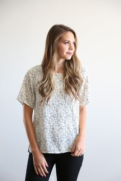 The Spring Speckled Blouse