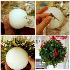 Christmas kissing ball