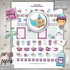 Delivery Stickers, Planner Stickers, Planner Accessories, Happy Mail Stickers, Package Stickers, Box Stickers, Mail Stickers, Erin Condren