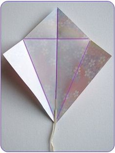 Kids Activities Easy Origami Kite Step 1 The post Easy Kids Craft: Origami Kites Origami Kite, Origami Cards, Paper Crafts Origami, Origami Easy, Diy Paper, Origami Boxes, Origami Instructions, Origami Tutorial, Kite Party