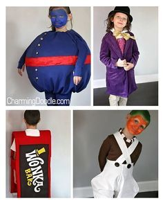 Charlie and the Chocolate Factory Costumes | by Charming Doodle