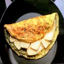 Omelete com queijo Brie