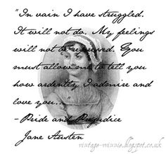 Poems, Quotes and Prose: Jane Austen Quote in her hand