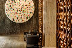Damien Hirst at the W South Beach hotel, interior by Yabu Pashelberg