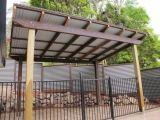 Corrugated fiberglass pergula