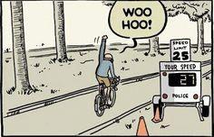 Schneller als die Polizei erlaubt.