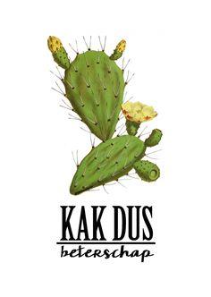 Postkaart KAK beterschap Deze geweldig KAK beterschapkaart is een ontwerp van Lumacreation. Het ontwerp is helemaal van nu. Vintage feelmet de o zotrendy cactus in combi...