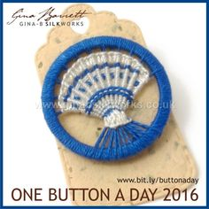 Day 200: Painted Shell #onebuttonaday by Gina Barrett