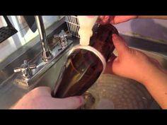 Como hacer vasos con botellas de vidrio - YouTube