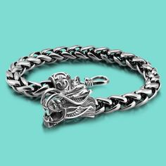 The new Thai silver bracelet with 925 silver bracelet Men's silver bracelet Domineering dragon bracelet with silver ornaments