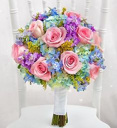 Pastel wedding bouquets Image detail for -Gainesville Wedding Flower for your birdal party and wedding ceremony Bridal Bouquet Pink, Bride Bouquets, Bridesmaid Bouquet, Spring Bouquet, Pastel Bouquet, Rainbow Bouquet, Spring Flowers, Bouquet Wedding, Gift Bouquet